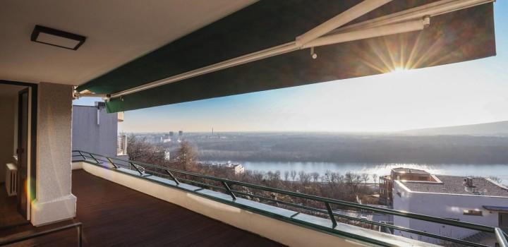 Двухкомнатная квартира аренда с видом на Дунай Словакия Братислава